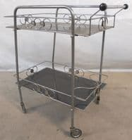 Chrome & Glass 1970's Two Tier Tea Trolley - SOLD